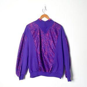Vintage Retro 90s Athleisure Crewneck Purple Sweater